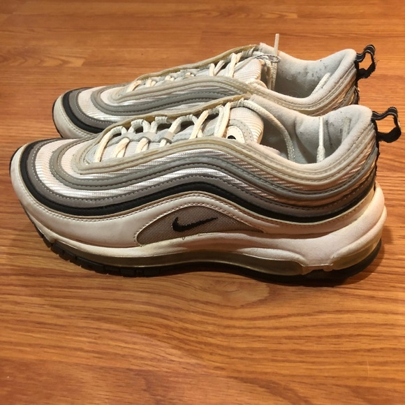 Nike Leather Air Max 97 Lx Sneakers in Black Black White lx